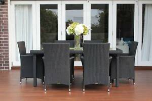 WICKER DINING SETTING,6 SEATER,STUNNING EUROPEAN STYLING,B/NEW Rocklea Brisbane South West Preview