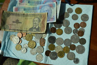 Bunch of Barbados Coins And Paper Money