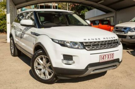 2013 Land Rover Range Rover Evoque L538 MY13 TD4 CommandShift Pure White 6 Speed Sports Automatic