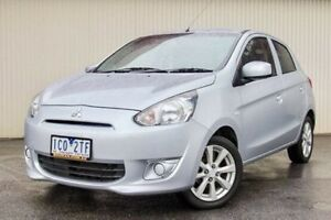 2014 Mitsubishi Mirage Silver Manual Hatchback Dandenong Greater Dandenong Preview