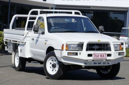 2002 Ford Courier PG GL White 5 Speed Manual Cab Chassis Slacks Creek Logan Area Preview
