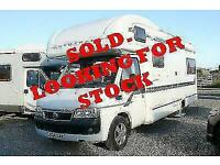 I WANT TO BUY YOUR MOTORHOME Autotrail Apache - 6 Berth - Rear Lounge - SOLD