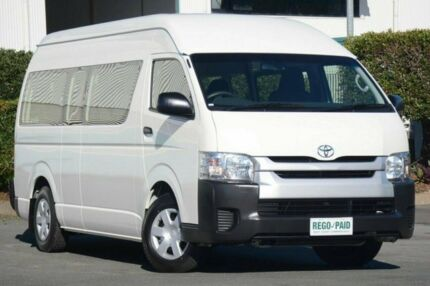 2014 Toyota Hiace KDH223R MY14 Commuter High Roof Super LWB French Vanilla 4 Speed Automatic Bus