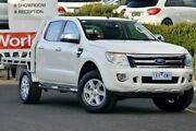 2012 Ford Ranger PX XLT Super Cab 4x2 Hi-Rider White 6 Speed Sports Automatic Utility Narre Warren Casey Area Preview