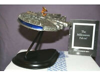 RARE Franklin Mint Pewter Star Wars Millennium Falcon with Stand
