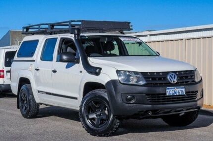 2013 Volkswagen Amarok 2H MY13 TDI400 4Mot White 6 Speed Manual Utility