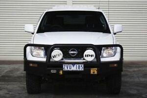 2013 Nissan Navara D40 S7 MY12 RX White 5 Speed Automatic Utility