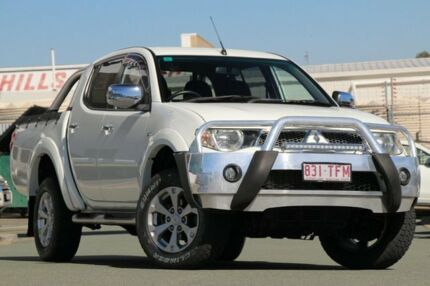 2012 Mitsubishi Triton MN MY12 GLX-R Double Cab White 5 Speed Sports Automatic Utility