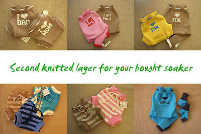 как выглядит Трусики под подгузники SECOND KNITTED LAYER for Diaper Cover merino wool cloth nappy soaker double baby фото