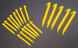 Camping tent pegs, backpack, stools, outdoor speaker & cooler