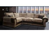 Comfy New ASHLEY COUCH with FREE FOOTSTOOL #
