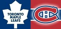 GIFT IDEA ! LEAFS VS HABS IN MONTREAL ON FEB27 + MORE