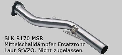 Mercedes SLK R170 320 Ersatzrohr MSD, VSD Soundrohr, Sound wie AMG, Auspuff  3-1