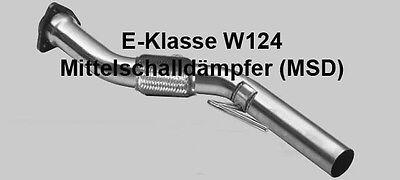 Mercedes Benz E-Klasse W124 Mittelschaldämpfer Ersatzrohr Performance