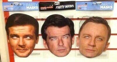 James Bond Craig Brosnan Moore Film 70er 80er 007 Character Kostüm Party Maske ()