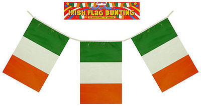 12ft EIRE IRELAND IRISH ST PATRICKS DAY PARTY PLASTIC DECORATIONS BUNTING FLAGS