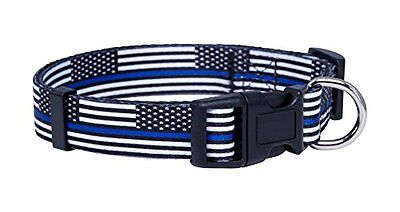 Thin Blue Line Flag Dog Collar