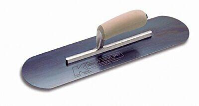 Kraft Tool Cf297b Blue Steel Pool Trowel With Camel Back Wood Handle 24x5-inch