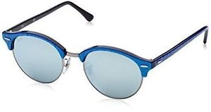 acd9aae713 Ray-Ban Rb4246 984 30 Striped Blue Frame Green Silver Mirror Lens  Sunglasses 51