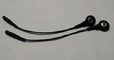 (2) Electrode Lead Wire PIN-TO-SNAP ADAPTERS Compatible w/TENS 7000 & 3000 Units