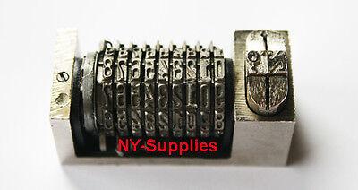 Letterpress Numbering Machine 9 Digits For Heidelberg Or Kluge Printing Press