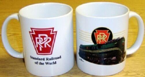 COFFEE MUG - Pennsylvania Railroad GREEN GG1 Train / Cup / Kitchen Collectibles