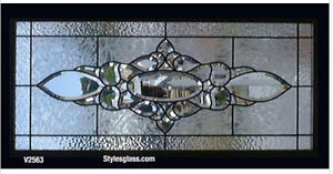 Stunning Handcrafted Bevel transom window WOW
