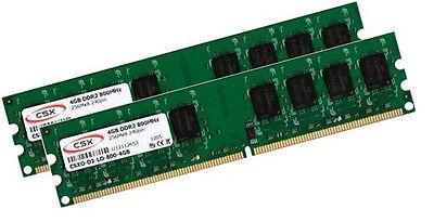 2x 4GB 8GB DDR2 800 Mhz RAM PC Speicher PC6400 240 pin PC2-6400 PC2-6400U Intel