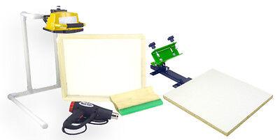 Silk Screen Printing Press 1 Color1station Heat Gun Exposure Stand Equipment