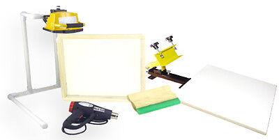 Screen Printing Press 1 Color1station Heat Gun Exposure Stand Equipment Kit