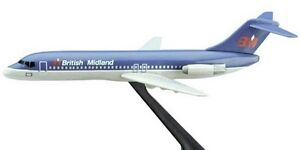 Flight Miniatures British Midland Airlines Douglas DC-9 1:200 Scale Model Mint