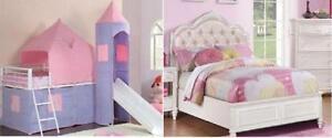 Castle or Diamond Tufted Princess Beds-Free Edm. Delivery!!