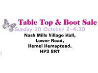 TABLE TOP / CAR BOOT SALES HELD SUNDAYS INDOORS SELLERS NEEDED.