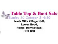 table top & car boot sale indoor & out sellers needed