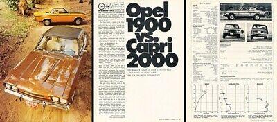 1971 Mercury Capri Opel 1900 Buick Ford Review Report Print Car Article D87 Review Mercury Capri
