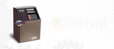 Great Deal- Amano Mjr 8000 Employee Time Clock W1000 Time Cards 2 Ribbons
