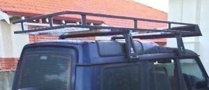 FULL LENGTH ALUMINIUM LIGHTWEIGHT ROOF RACK/RHINO BARS Highgate Perth City Area Preview