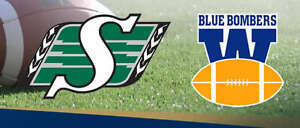 Roughriders vs Blue Bombers Both July 1 and Labour Day Tickets