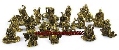 China Folk Collection Classic Bronze Statue Eighteen Arhats buddha Statues
