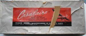 1940s-50s-CASALAIRE-Metal-Gas-Powered-Model-Control-Line-Airplane-UNBUILT