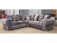 -- NEW SALE -- BRANDED NEW HIGH QUALITY VERONA CORNER SOFA OR 3+2 SOFA AVAILABLE IN STOCK NOW