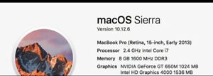 "MacBook Pro 15"" i7 early 2013"