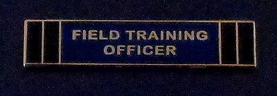 FIELD TRAINING OFFICER GOLD/BLUE/BLACK Award/Commendation Uniform Bar police FTO