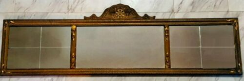 Large  Hand Carved Antique Wall Mirror