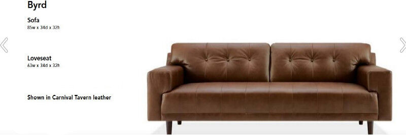 Eq3 Leather Byrd Loveseat And Sofa Set Couches Futons City Of Toronto Kijiji