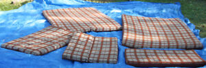 5 cushions for tente roulotte, tent trailer.