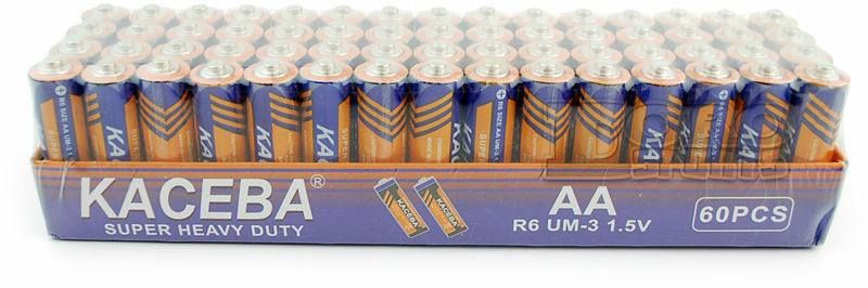 Lot of 60 AA Batteries EXTRA Heavy Duty 1.5 V Wholesale Lot