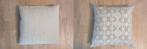 Two Crate and Barrel Square Decorative Pillows - Unused