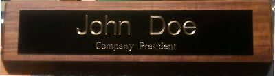 10.5 Desk Name Plate Personalized Free