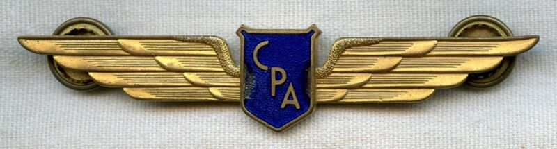 1940s Canadian Pacific Air Lines (CPA) Enameled Wing by Scully